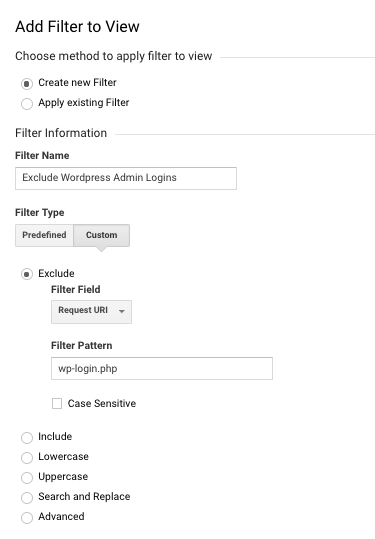 disable google analytics tracking for wordpress admin logins