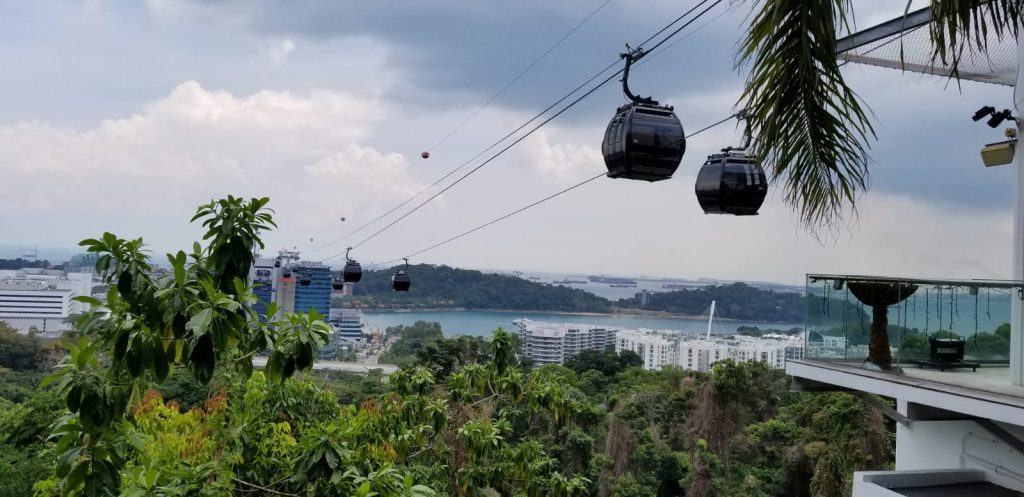 cable car ride singapore trip